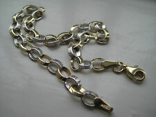 9ct yellow & white gold oval linked 4mm bracelet GIVEAWAY PRICE ON PROMOTION