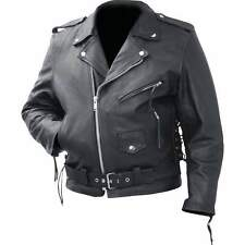 Motorcycle Jacket Genuine Cowhide Leather Classic by Rocky Mountain Hides SZ XL