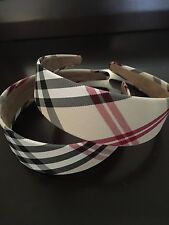 Nova Check Plaid Micro Suede Lining Womens Girls Wide Hair Band Headband