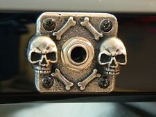 SKULL METAL JACK COVER PLATE fit GIBSON, EPIPHONE LES PAUL GUITAR Custom Square
