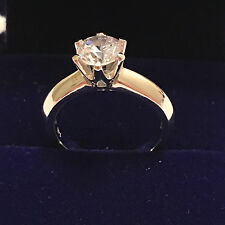 1 CT ROUND CUT DIAMOND SOLITAIRE ENGAGEMENT RING WHITE GOLD Finish Size 8