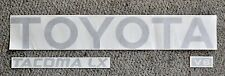 TOYOTA TACOMA SILVER  TRUCK TAILGATE LOGOS DECAL 95-99 V6  pickup letters