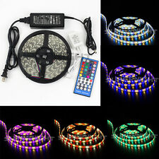 16.4ft 5050 RGBW RGB+Warm White 5M 300 LED Strip Light Waterproof +Remote +Power