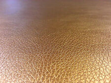 ECO LEATHERETTE COPPER FAUX LEATHER UPHOLSTERY DRESS CRAFT FABRIC STRONG A60
