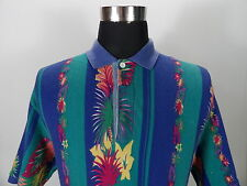 Mens CHAPS Polo shirt, Crazy pattern, Size L, Short sleeves  BL801