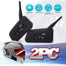 2 x BT Bluetooth Motorcycle Helmet Interphone  Headset Intercom 6 Riders 1200M