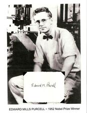 Edward Purcell Autograph Nobel Prize Physics Nuclear Magnetic Resonance NMR #1