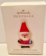 SANTA STOP HERE! Sign for milk & cookies sound  2014 HALLMARK ORNAMENT IN NIB