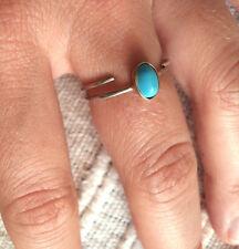 ANELLINO ARGENTO 800 E PERLINA DI TURCHESE MISURA 15-55 anello silver ring- j2