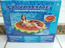 Swimline Watermelon Slice Island Inflatable Raft Party Beach Lounger Pool 60""