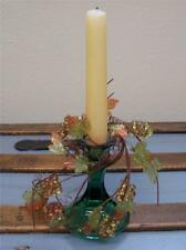 Set 2 NWT Acrylic Gold Green FALL MIX Bead GRAPE Cluster Leaf Vines CANDLE RING