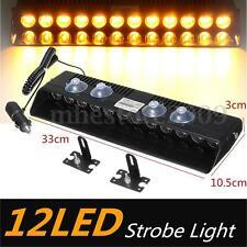 12 LED Car Truck Emergency Warning Advisor Traffic Lamp Strobe Flash Light Bar