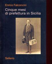 CINQUE MESI DI PREFETTURA IN SICILIA ARTE SAGGI  FALCONCINI ENZO SELLERIO 2002