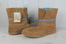 SANUK SOULSHINE CHESTNUT  SUEDE MOCCASIN WOMENS ANKLE BOOTS SIZE US 10 EU 41