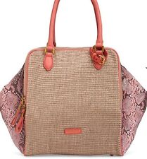 NWT Liebeskind Coral Color Straw Snake Bag.  3 Separate Compartments!  $278.