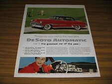 1954 Print Ad The '54 DeSoto Automatic with Powerflite Transmission Red
