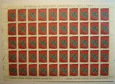 1975 ITALIA  150 lire Trentennale della Resistenza   foglio intero MNH**