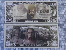 The WALKING DEAD Rise Again    $1,000,000 One Million Dollar Bill: United States