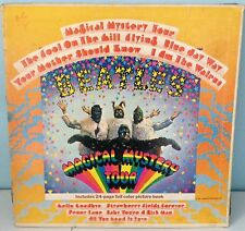 THE BEATLES - MAGICAL MYSTERY  TOUR - RECORD ALBUM - COVER WORN G+ - VINYL - VG+