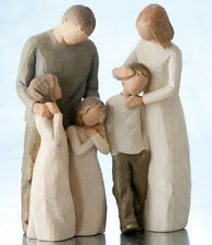 Willow Tree Parents with 3 children Figurine set in Gift BOX  23624