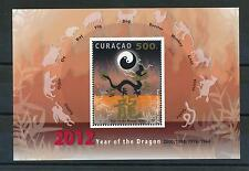 [CU075] Curacao 2012 Chinese New Year of the Dragon Miniature Sheet MNH # 75