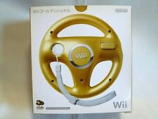 R02-07 Club Nintendo Japan Mario Kart Golden Steering Wheel / Handle Wii WiiU