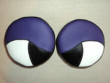 YAMAHA BANSHEE WARRIOR MARINE VINYL HEADLIGHT COVERS PURPLE/BLK/PADDED INSERTS