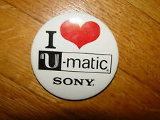 Retro Rare Sony U-Matic 3 inch advertising button