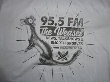 Made in USA Gray NEW w/o tags 92.5 FM RADIO The Weasel Charlotte NC  t shirt XL