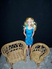 Vintage 1970's Wicker sofa & chair for Barbie doll