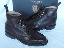 NEW  Joseph Cheaney Dark Brown Calf Grain Leather Lace Up Trail  Boots UK 7.5