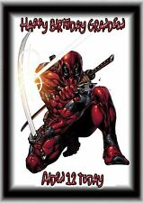 Personalised birthday card Deadpool A5 size  son grandson brother daughter