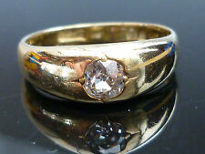 Stunning Victorian C1883 18ct gold 0.40ct Old Mine cut soliatire diamond ring