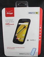 New MOTOROLA Moto E Verizon 8GB Black Smartphone