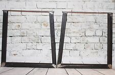 2 x Steel Bench Desk Table Pedestal Legs-Industrial, welded,unfinished steel 28""