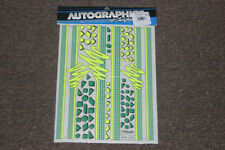 Autographics AG 818 Vintage Wave Links Yellow Green Decal Sticker RC NASCAR IMSA
