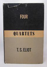 Four Quartets - T. S. Eliot - First Edition, Second Printing - 1943 HC/DJ