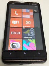 HTC HD 7 - 16GB - Black (T-Mobile) Smartphone - Small Cracks in Glass