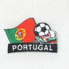 PORTUGAL SOCCER FOOTBALL KICK COUNTRY FLAG EMBROIDERED IRON-ON PATCH CREST BADGE