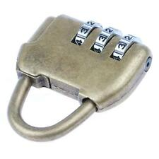 Vintage Alloy Lock 3 Dial Digit Combination Password Padlock Mini Antique Style
