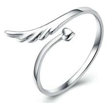 wholesale 925 silver ring women's Angel wing fashion jewelry xmas gift size 7