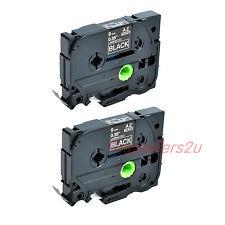 2PK 9mm*8m Ruban Étiquette Tape Label Pr Brother TZ 325 TZe 325 P-Touch PT-1100