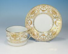 "Royal Limoges ""or en relief"" TAZZA & Sotto Tazza"