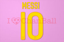 Messi #10 2011-2012 Barcelona Homekit Nameset Printing