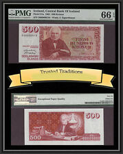 TT 1961 ICELAND 500 KRONUR PICK # 51a PMG 66 EPQ 2 OF 2 SEQUENTIAL SERIAL NUMBER
