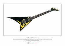Randy Rhoads' Black Jackson Prototype Limited Edition Fine Art Print A3 size