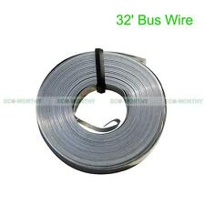 32 Feet Tinned Copper Bus Wire Ribbon w Solder Main Wire DIY Solar Cells Panels