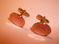 PENNY COIN CUFFLINKS 1971 - 2008 PICK YOUR YEAR