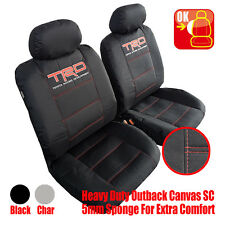 Pair New TRD Black Racing Canvas Car Seat Covers For Toyota Lexus Scion Models