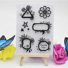 Transparente Silikon Klar Gummi Stempel Blatt Cling Scrapbooking Tagebuch DIY #6